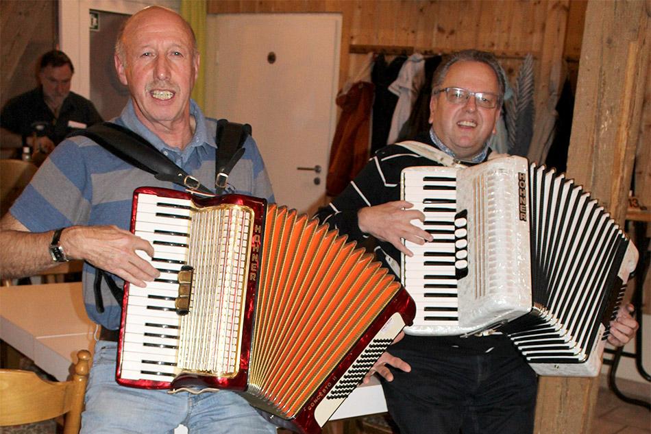 Helmut und Reimund spielten auf