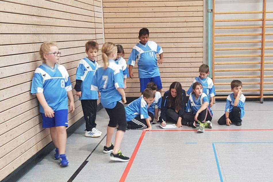 Gemischte E-Jugend Handballer des SV Illingen